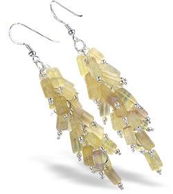 Design 16524: yellow aquamarine earrings