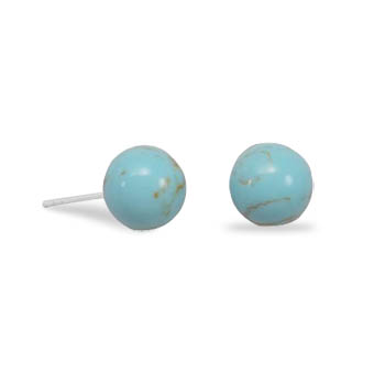 Design 21726: blue larimar post earrings