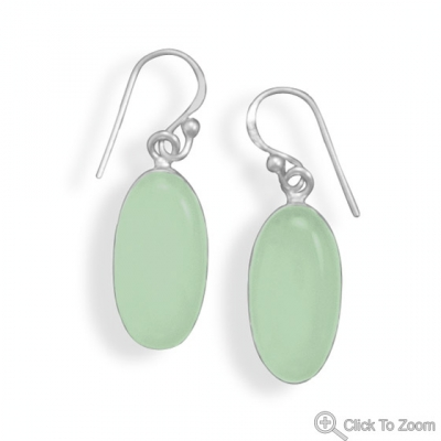 Design 21730: green chalcedony drop earrings