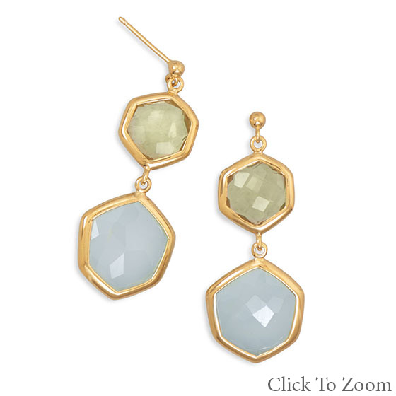 Design 21758: multi-color multi-stone classic earrings