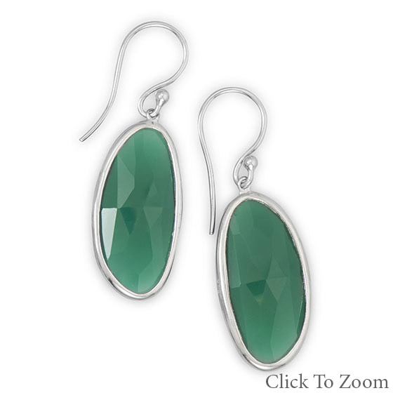 Design 21761: green onyx chunky earrings