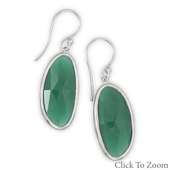 Design 21761: green onyx chunky earrings