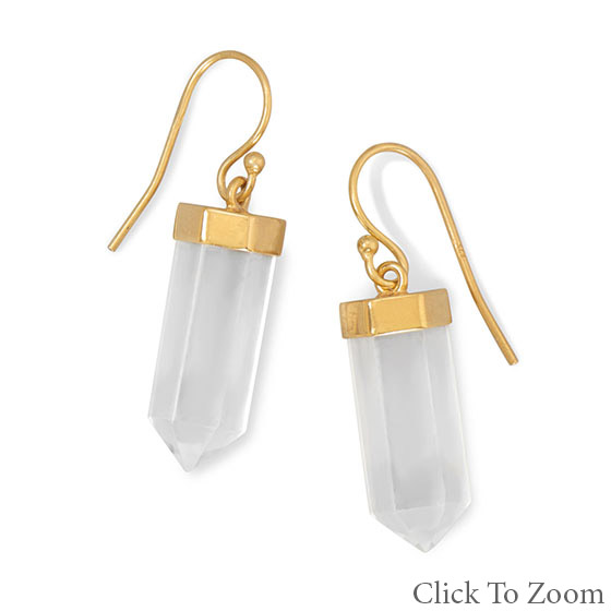Design 21766: white crystal earrings
