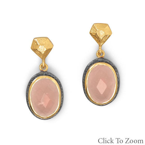 Design 21767: pink crystal earrings