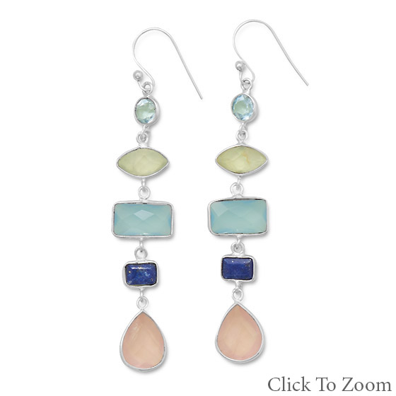 Design 21774: multi-color multi-stone earrings