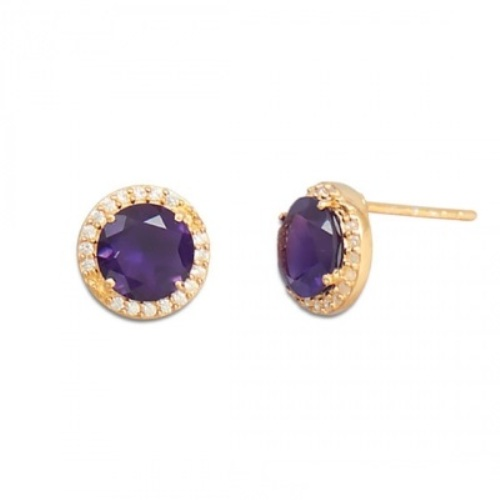 Design 21777: purple amethyst earrings