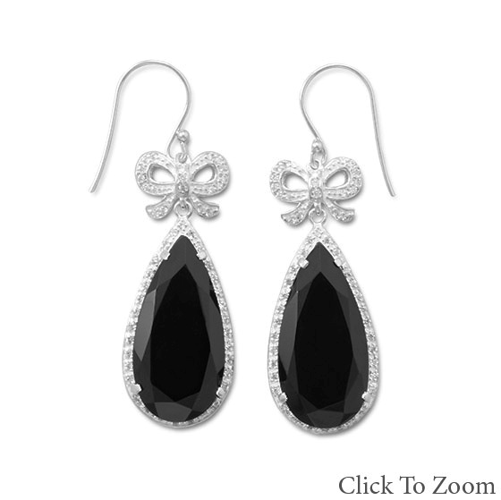 Design 21781: black onyx drop earrings