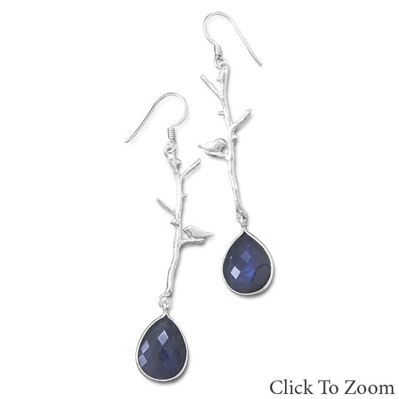 Design 21784: gray labradorite drop earrings