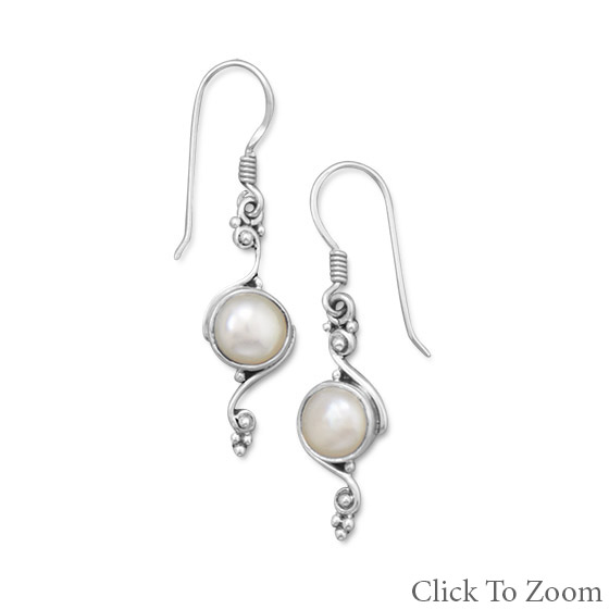 Design 21790: white pearl brides-maids earrings