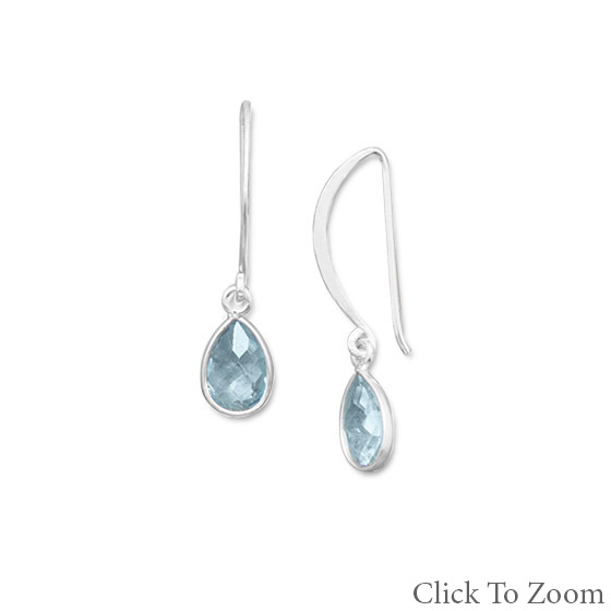 Design 21796: blue blue topaz drop earrings