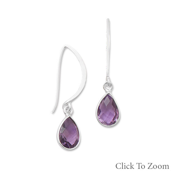 Design 21798: purple amethyst drop earrings