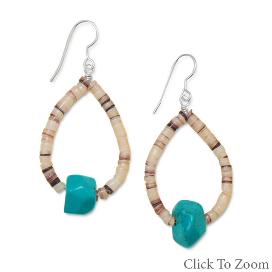 Design 21800: multi-color multi-stone hoop earrings