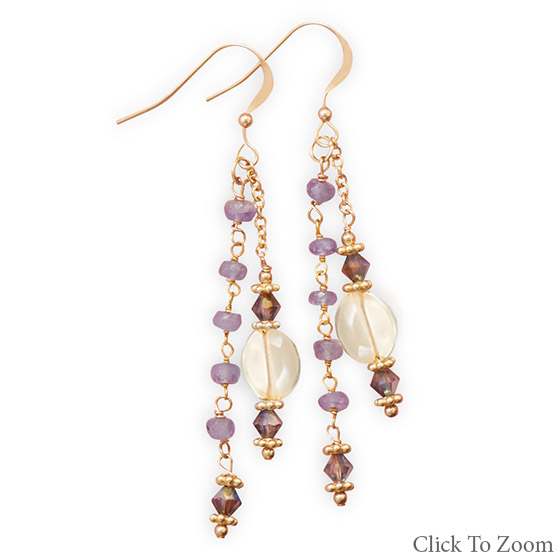 Design 21803: multi-color multi-stone multistone earrings