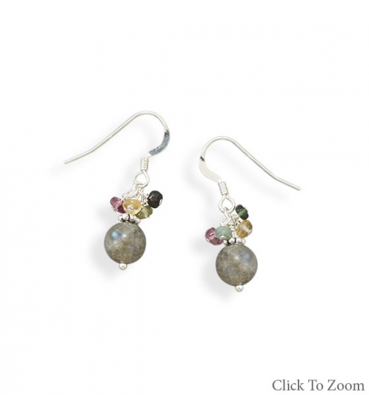 Design 21808: multi-color tourmaline classic earrings