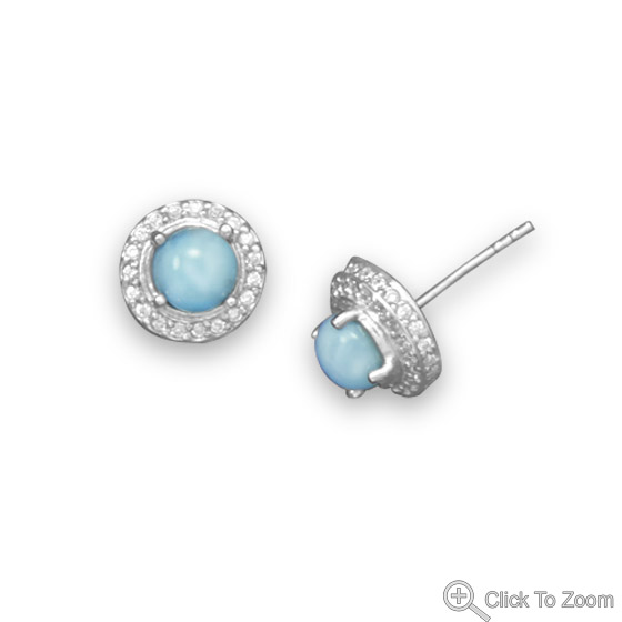 Design 21831: blue larimar studs earrings
