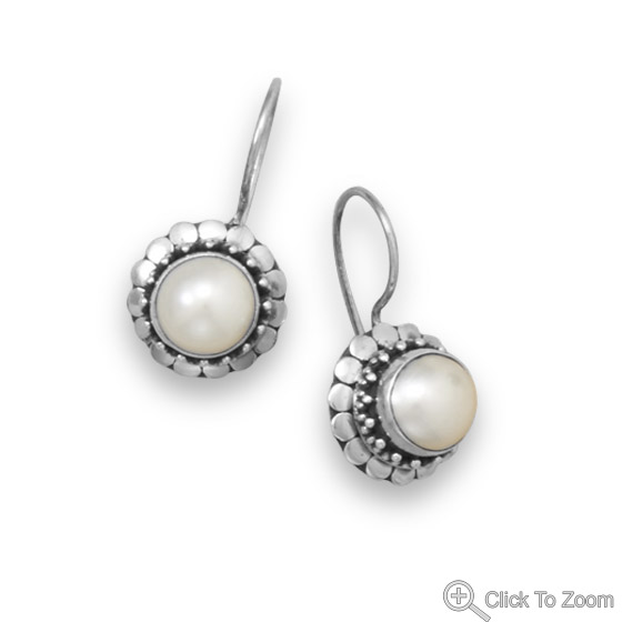 Design 21832: white pearl earrings