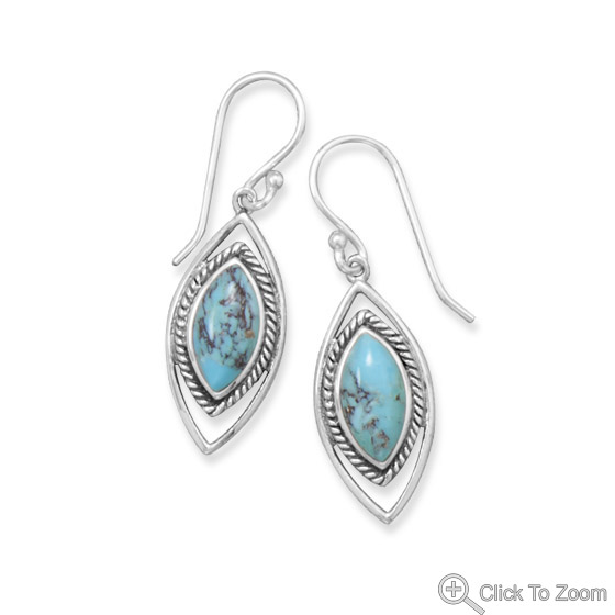 Design 21839: blue turquoise earrings