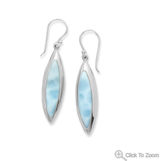 Design 21841: blue larimar earrings