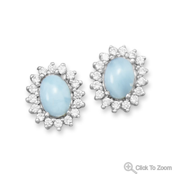 Design 21844: blue larimar studs earrings