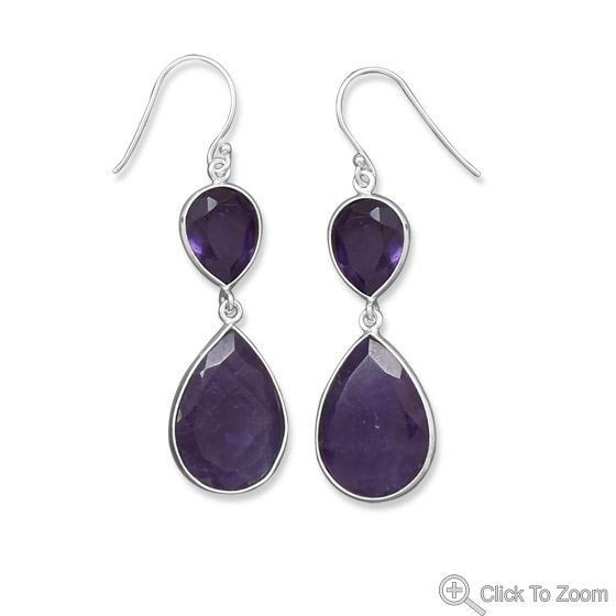 Design 21851: purple amethyst drop earrings