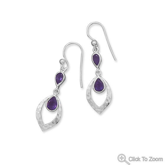 Design 21854: purple amethyst drop earrings