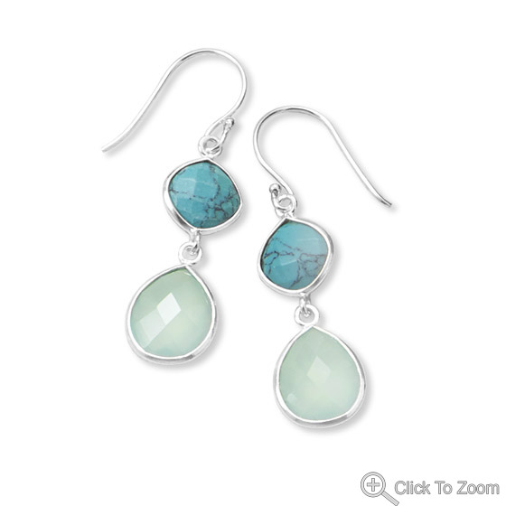Design 21855: multi-color multi-stone earrings