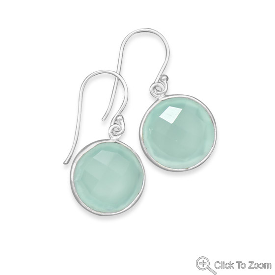 Design 21856: green chalcedony drop earrings