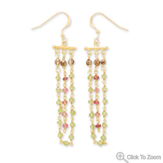 Design 21861: multi-color multi-stone earrings