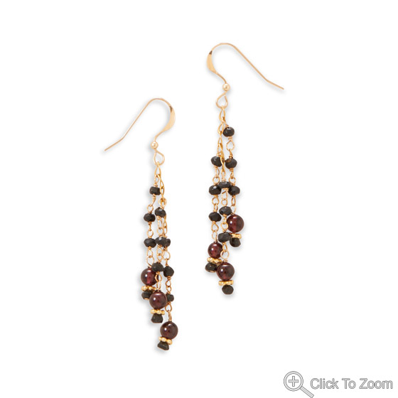 Design 21863: multi-color multi-stone cha-cha earrings
