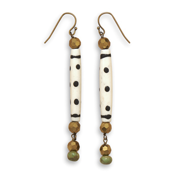 Design 21895: multi-color multi-stone drop earrings