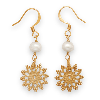 Design 21896: white pearl drop earrings