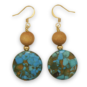 Design 21897: multi-color multi-stone drop earrings