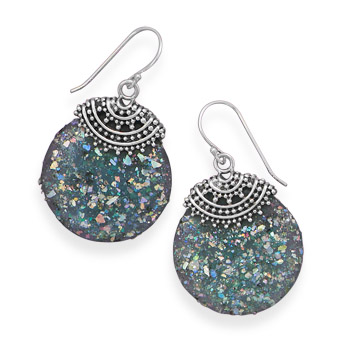 Design 21903: multi-color glass drop earrings