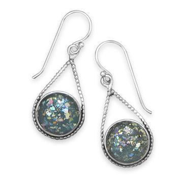 Design 21906: multi-color glass drop earrings