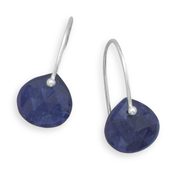 Design 21909: blue sapphire drop earrings