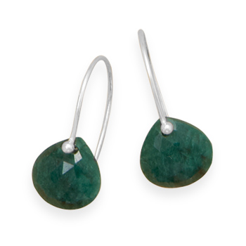 Design 21910: green emerald drop earrings