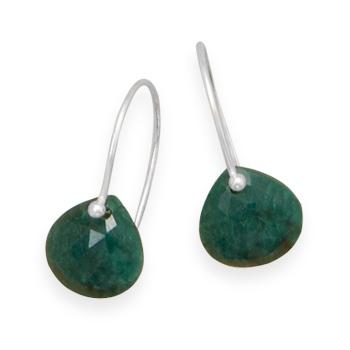 Design 21910: green emerald drop earrings