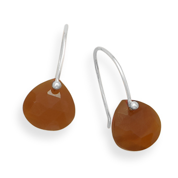 Design 21911: brown carnelian drop earrings