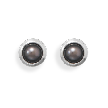 Design 21915: gray pearl studs earrings