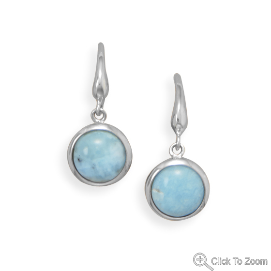 Design 21920: blue larimar drop earrings