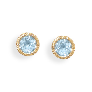 Design 21922: blue blue topaz studs earrings
