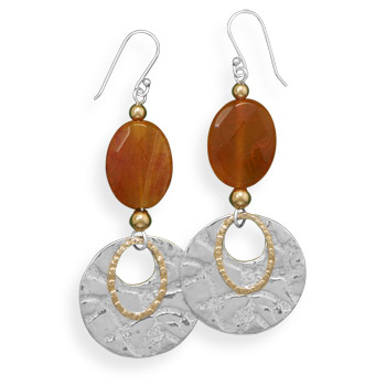 Design 21927: brown agate drop earrings