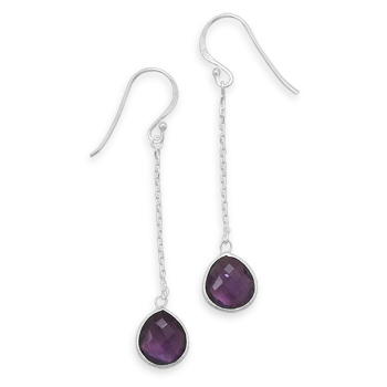 Design 21937: purple amethyst drop earrings