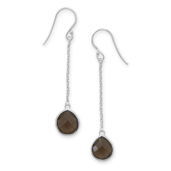 Design 21938: brown smoky quartz drop earrings