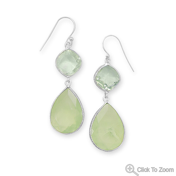 Design 21939: green green amethyst drop earrings