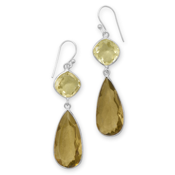 Design 21941: brown multi-stone drop earrings