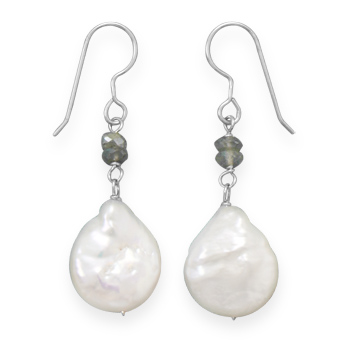 Design 21942: multi-color pearl drop earrings