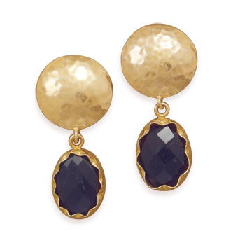 Design 21951: purple amethyst chipped earrings
