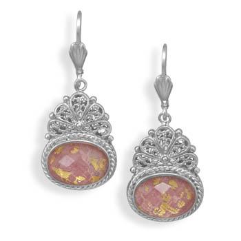 Design 21953: multi-color quartz drop earrings