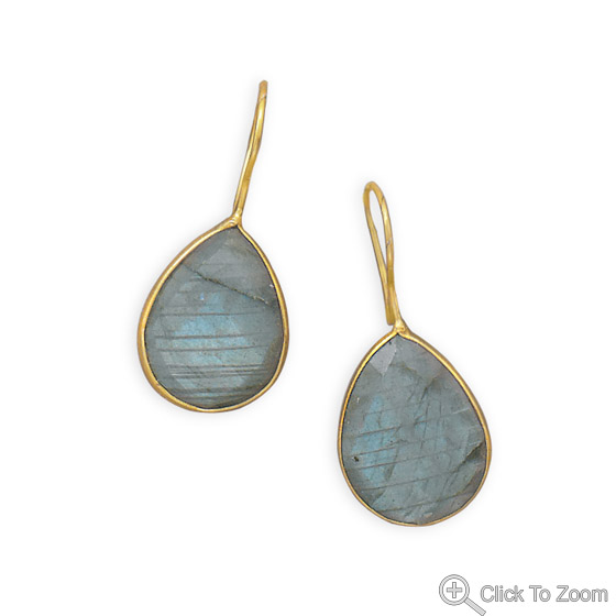 Design 21964: gray labradorite drop earrings